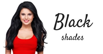 Black shades of hair extensions