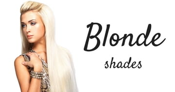 Blonde shades of hair extensions