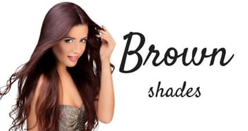 Brown shades of hair extensions