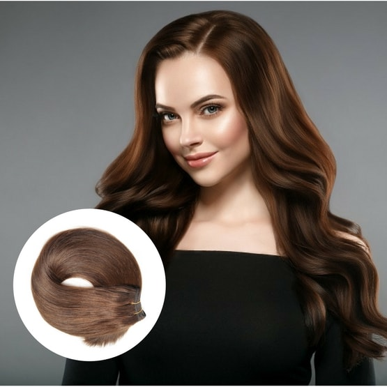Sew in hair wefts